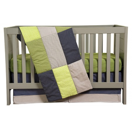 PERFECTLY PREPPY - 3 PIECE CRIB BEDDING SET