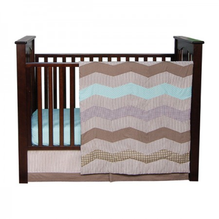 Cocoa Mint - 3 Piece Crib Set