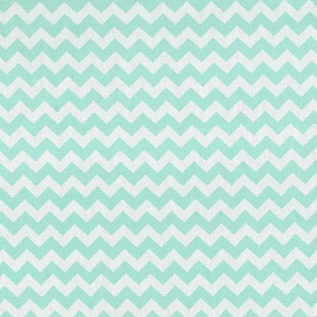 MINT GREEN AND WHITE CHEVRON - CRIB SHEET