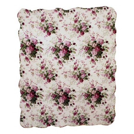 Chinese Rose Throw Size Quilt