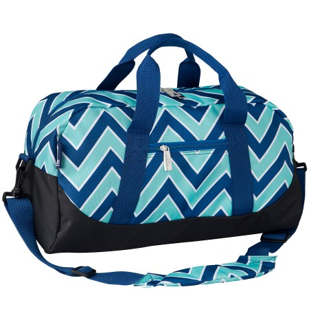 Chevron Blue Overnighter Duffel Bag