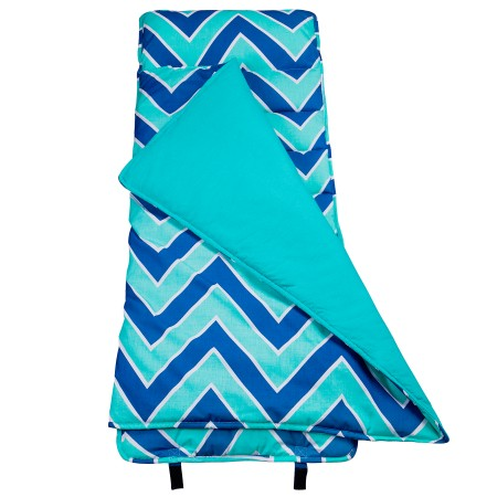 Chevron Blue Original Nap Mat