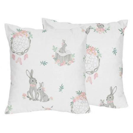 Bunny Floral Accent Pillow