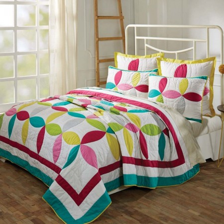 Everly Lux King Size Set; Quilt -2 Shams