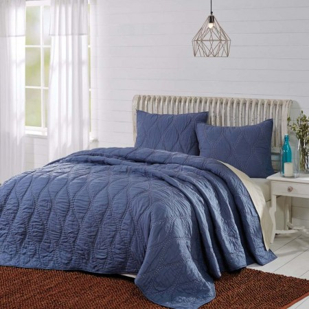 Harbour Navy Quilt - King Size
