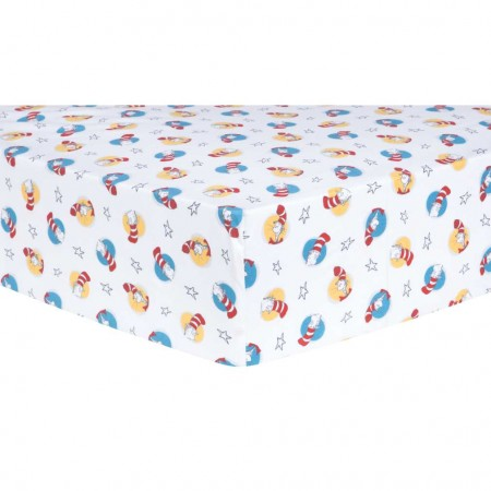 Dr. Seuss Cat in the Hat Fitted Crib Sheet