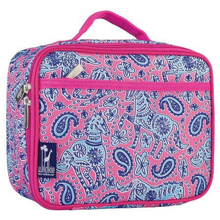 Watercolor Ponies Pink Lunch Box
