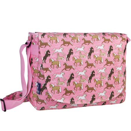 Horses in Pink Laptop Messenger Bag