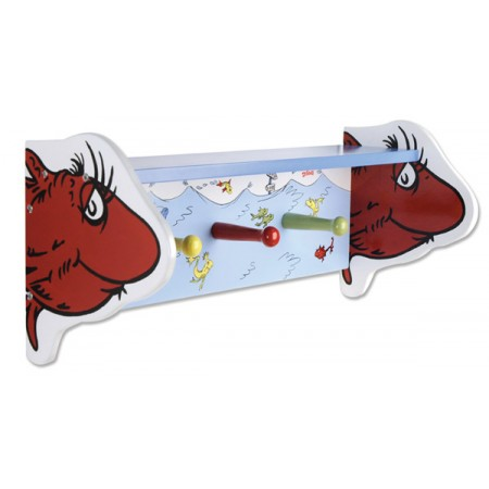 Dr Seuss One Fish, Two Fish - Shelf W/Pegs
