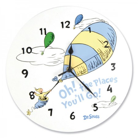 WALL CLOCK - DR. SEUSS BLUE OH! THE PLACES YOU'LL GO!