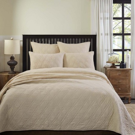 Casey Taupe Quilt - Queen Size