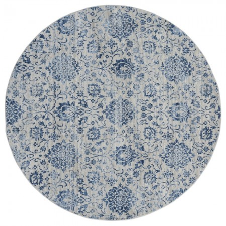 "Clairmont Arish Denim Blue Round Rug 7'10"" x 7'10"""