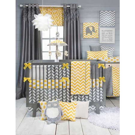 Swizzle Yellow 3 Piece Crib Set - Sweet Potato