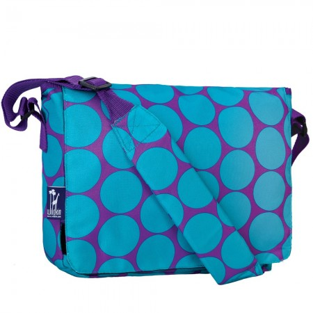 Big Dot Aqua 13 Inch x 10 Inch Messenger Bag