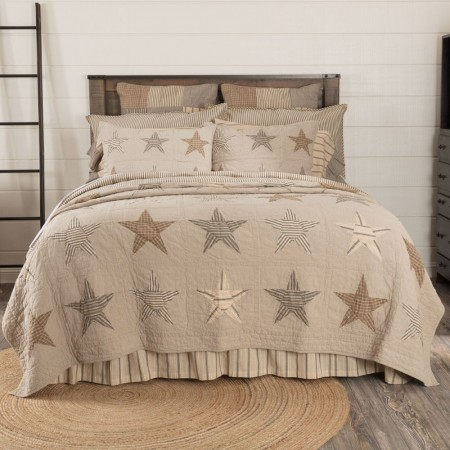 Sawyer Mill Star Charcoal Quilt - Twin Size