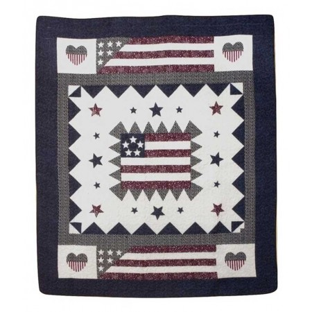 Great America Throw Size Quilt