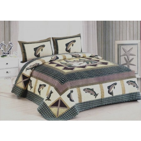 Fishermans Wharf Quilt Set - King Size - Includes Shams
