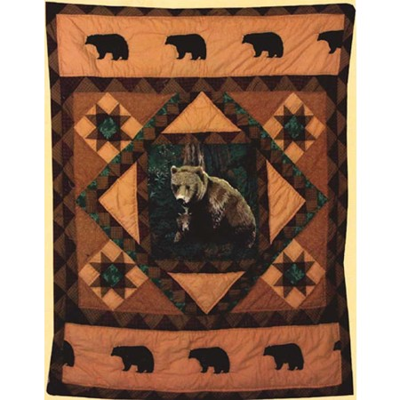 Mountain Bear Throw Size Quilt