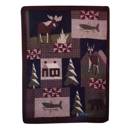 Mountain Trip Throw Size Quilt
