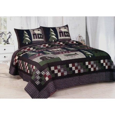 Mountain Trip Quilt Set - King Size - Includes Shams