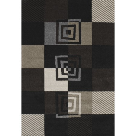 Vibes Black Area Rug - Contemporary Style