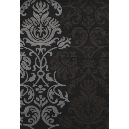 Replay Black Area Rug - Contemporary Style