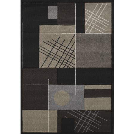 Touche Black Area Rug - Contemporary Style