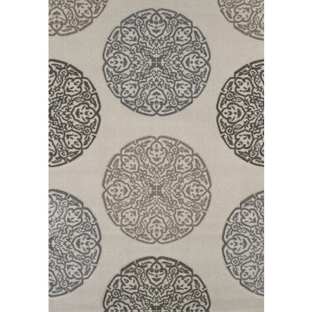 Gaze Cream Area Rug - Contemporary Style