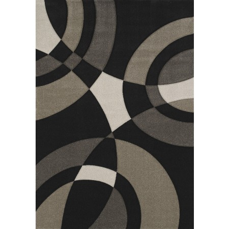 "Smash Black Oversized Area Rug (94"" X 134"")"