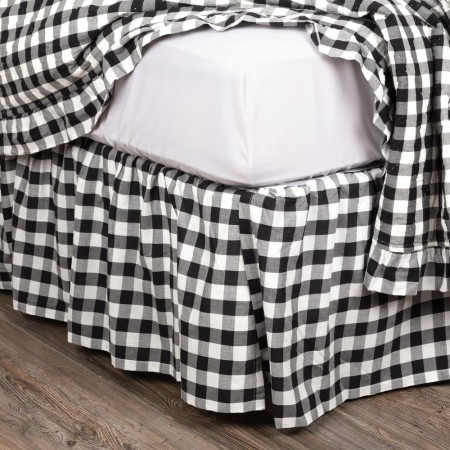Annie Buffalo Black Check Twin Size Bed Skirt