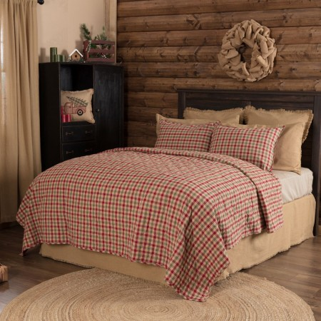 Jonathan Plaid Quilt - Twin Size
