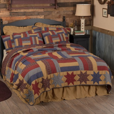 National Quilt Museum Kindred Stars and Bars Quilt - Luxury King Size