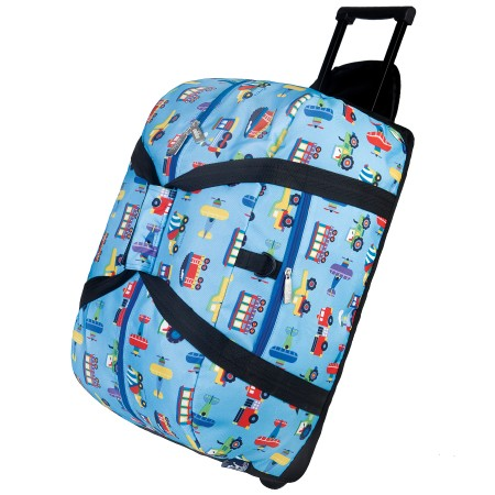 Trains, Planes & Trucks Rolling Duffel Bag