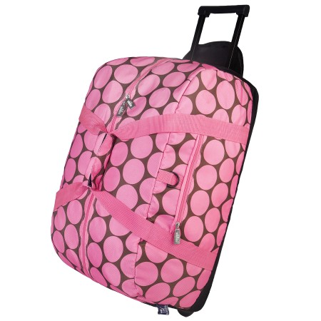Big Dot Pink Rolling Duffel Bag