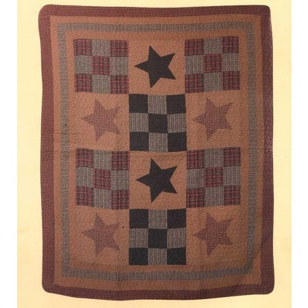 Prairie Star Throw Size Quilt