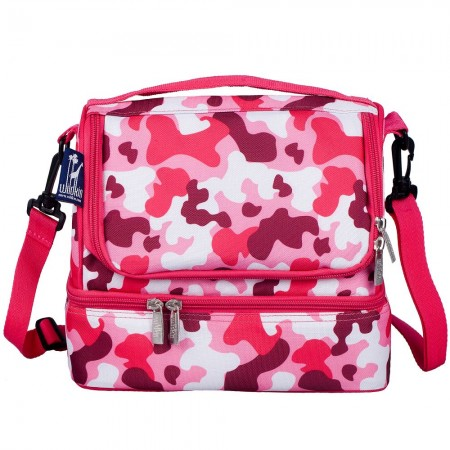 Camo Pink Two Compartment Lunch Bag