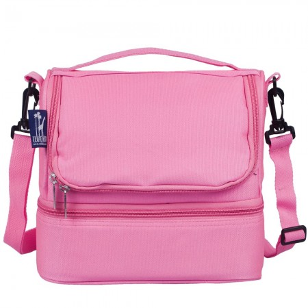 Flamingo Pink Two Compartment Lunch Bag
