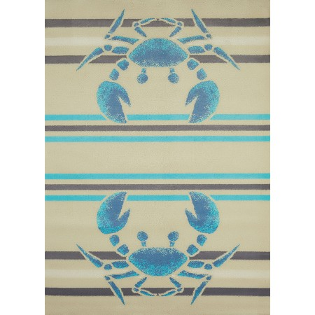 Crabbee Blue Area Rug