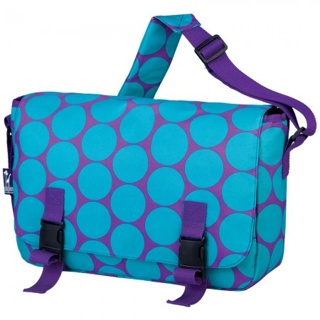 Big Dot Aqua 15 Inch x 10 Inch Messenger Bag
