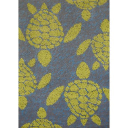 "Sea Turtles Lime Area Rug (63"" X 86"")"