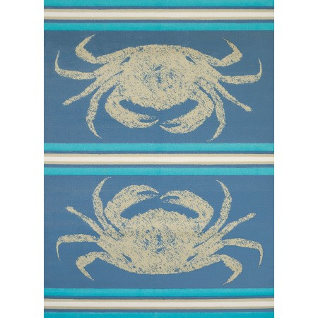 "Stone Crab Blue Accent Rug (22"" X 36"")"