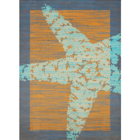 "Starfish Border Peach Accent Rug (22"" X 36"")"