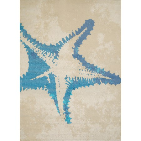 "Sea Life Natural Area Rug (63"" X 86"")"