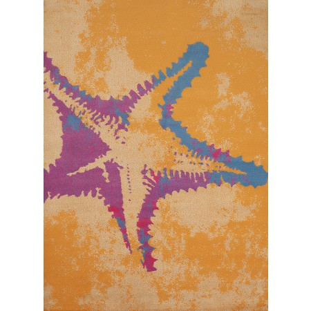 "Sea Life Peach Area Rug (63"" X 86"")"