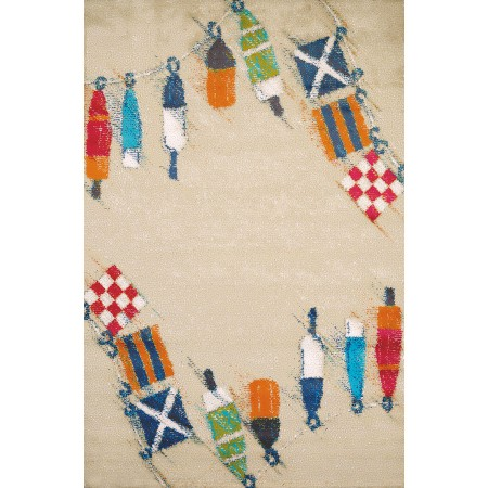 "Set Sail Sand Accent Rug (22"" X 36"")"