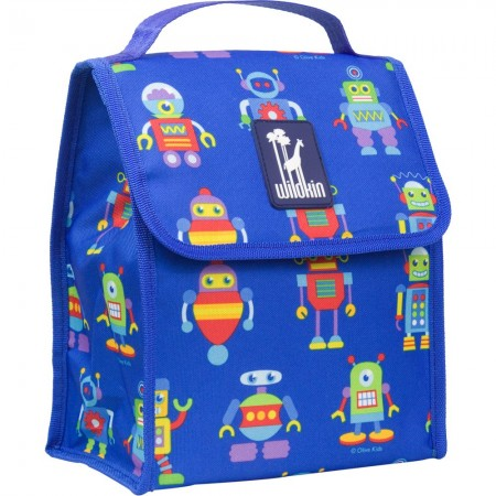 Olive Kids Robots Munch 'n Lunch Bag