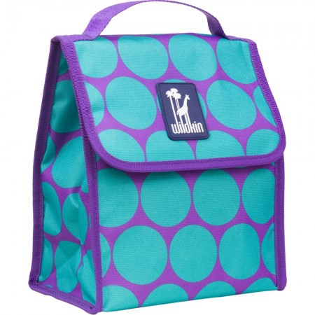Big Dot Aqua Lunch Bag
