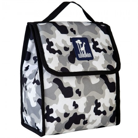 Gray Camo Lunch Bag
