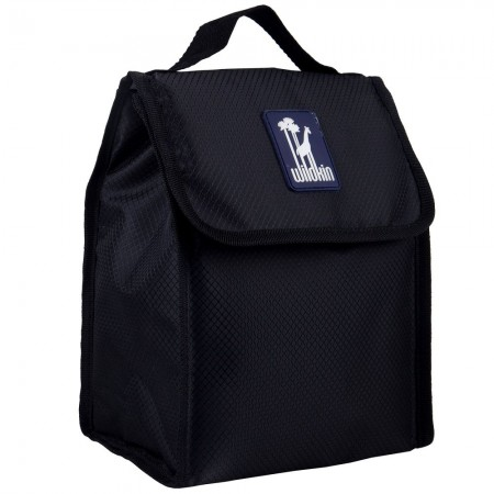 Rip-Stop Black Lunch Bag