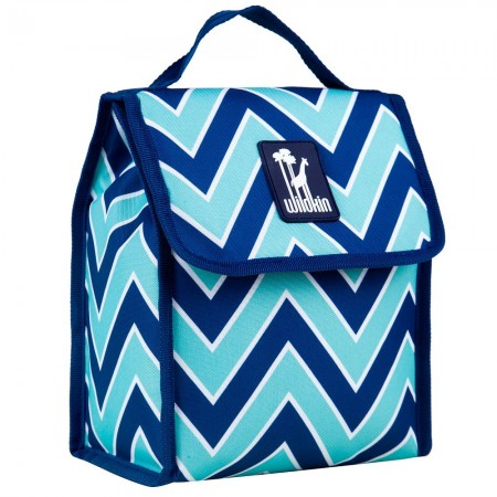 Chevron Blue Lunch Bag